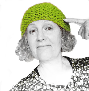 Hello! Angie in a green hat!