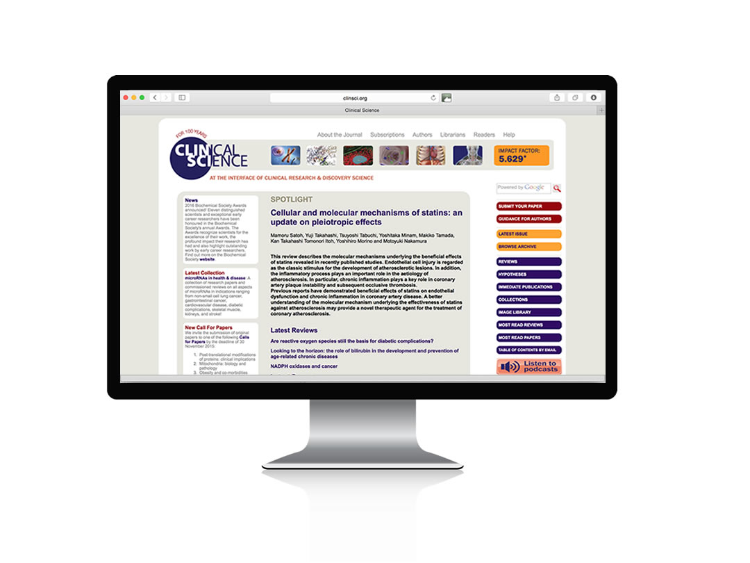 Clinical Science | Website re-design
