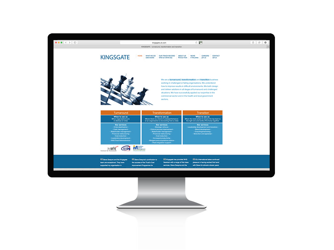 Kingsgate | Logo and website redesign