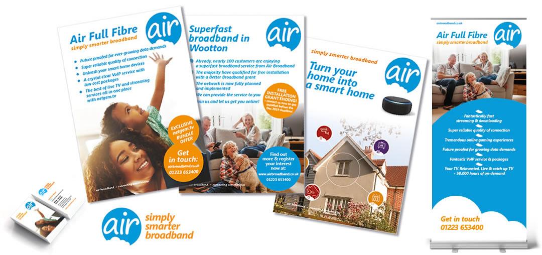 air broadband marketing collateral