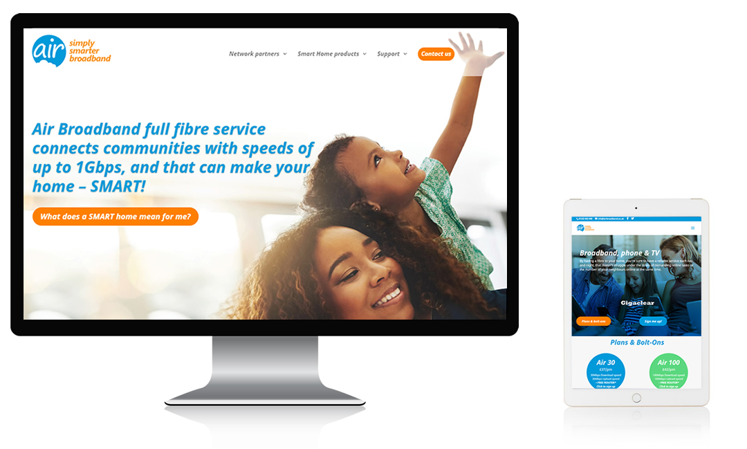 air broadband website redesign