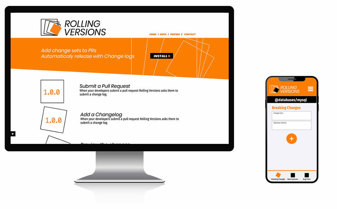 rolling versions screens
